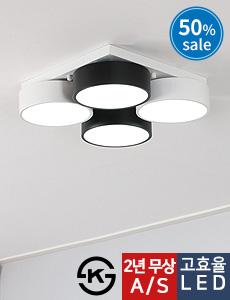 LED 포링 4등 방등 60W