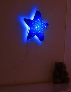 LED 블루 별벽등
