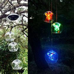 LED 태양광 나비 풍경등