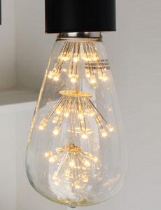 LED 에디슨 눈꽃 막대램프 2W