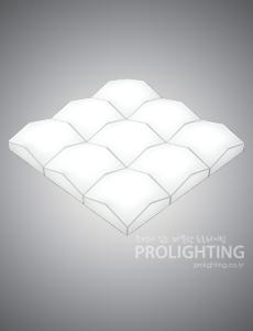 LED 마운트 밀크솔 거실등 180W