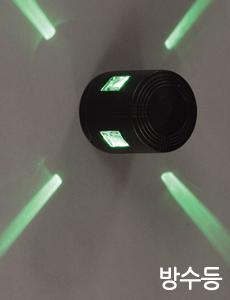 LED 파인원형 4구 방수벽등[5color]