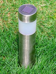 LED 태양광 원통 정원등-스텐