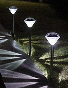 LED 태양광 보석 잔디등