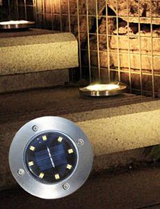 LED 태양광 8구 바닥등(잔디용)