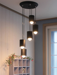 LED 캐럴 5등 원형 펜던트[4color]