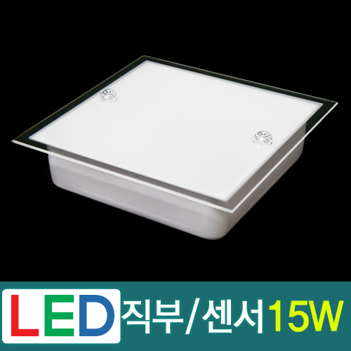 LED 스노우 유리 직부/센서등 15W