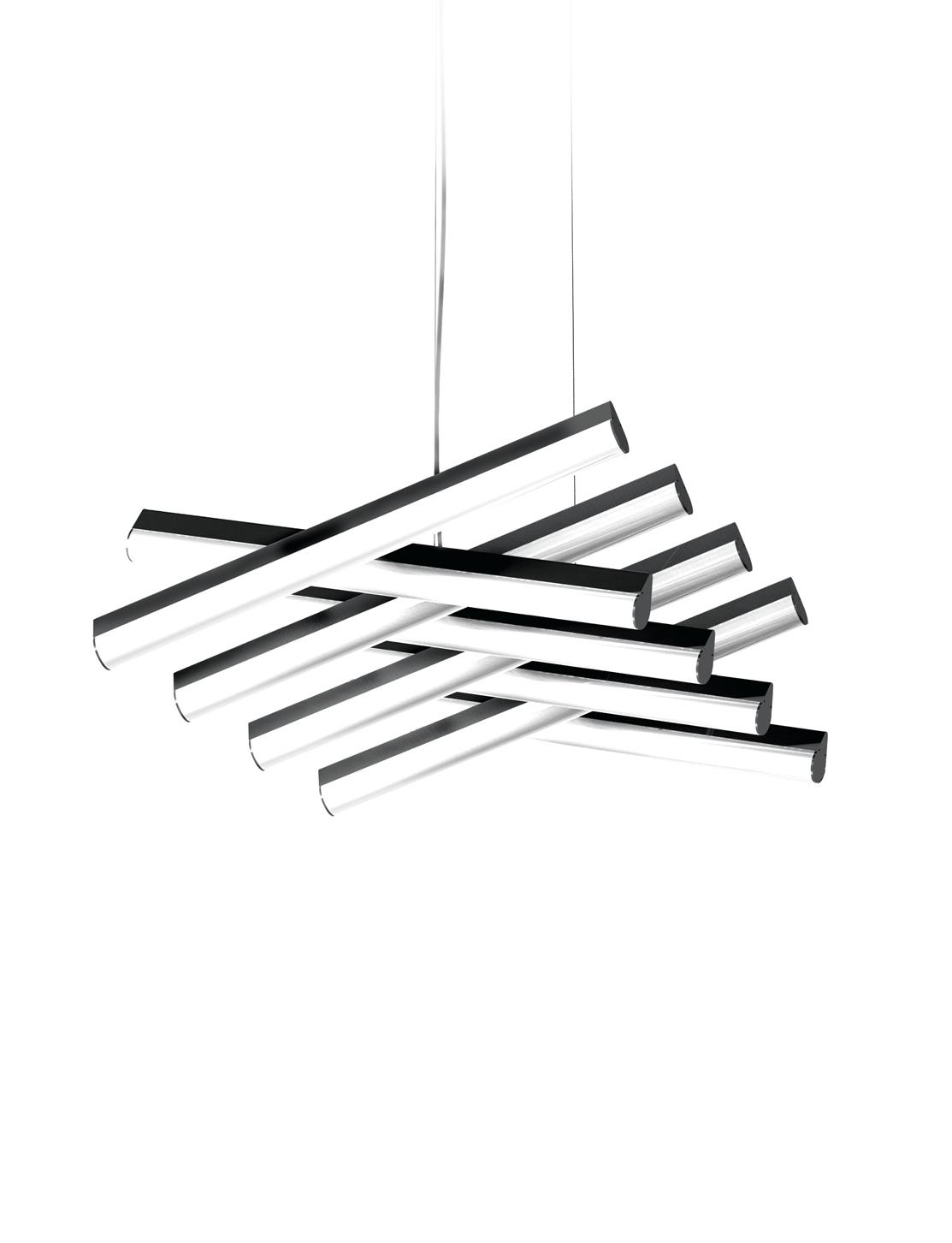 LED 스핑 8등 펜던트 48W(블랙)