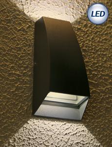 LED 제인트 2등 실외벽등 2W(다크그레이)