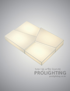 LED 크랙 밀크솔 직사각 거실등 150W