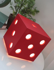 LED 다이스 무드스탠드(레드)