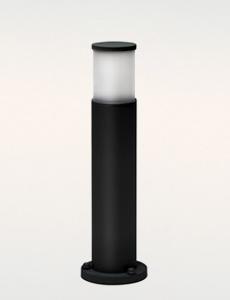[60cm] 심플원형 1등 잔디등(中/블랙)