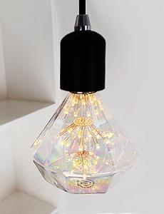 LED 에디슨 눈꽃 다이아몬드램프 2W