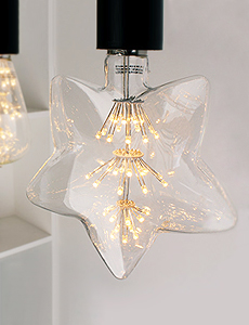 LED 에디슨 눈꽃 별램프 2W