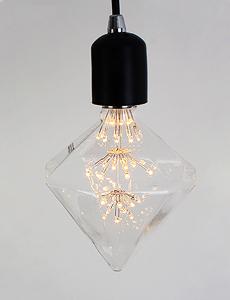 LED 에디슨 눈꽃 피라미드램프 2W