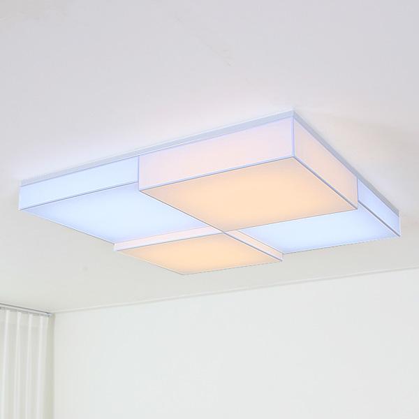 LED 퍼즐사각 밀크솔 거실등