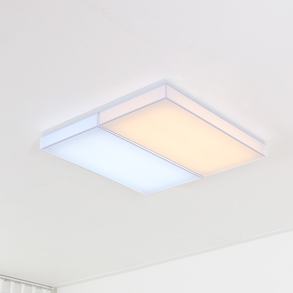 LED 누디 밀크솔 직사각 거실등